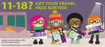 Are you aged between 11-18? Get your travel pass sorted!